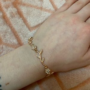 Rose Gold Bracelet with Diamond Accent